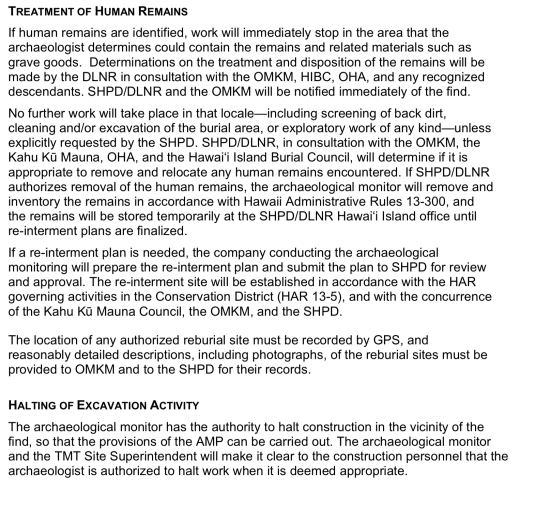 Archaeological Monitoring Plan in Support of Construction of the Thirty Meter Telescope in the Astronomy Precinct on Mauna Kea, etc. for TMT Observatory Corporation, by Pacific Consulting Services, Honolulu, May 2013.