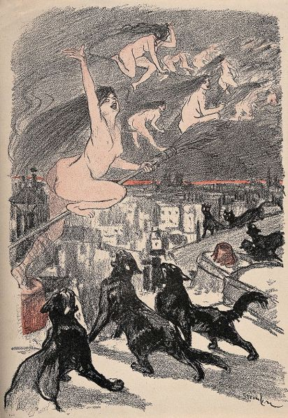 Big_black_cats_howl_as_naked_witches_ascend_into_the_night_o_Wellcome_V0011894