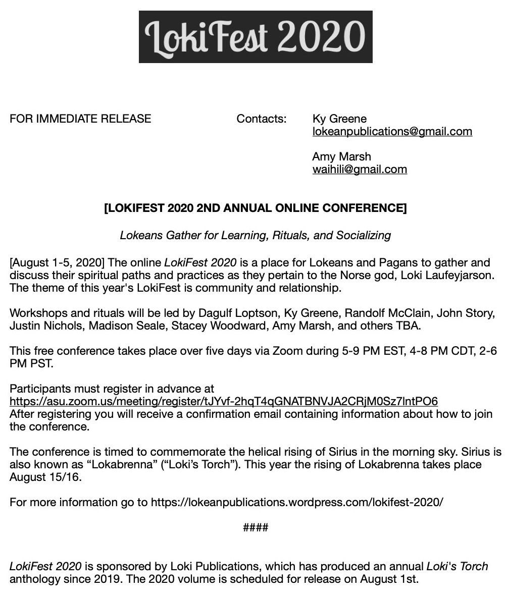 LokiFest Press Release copy